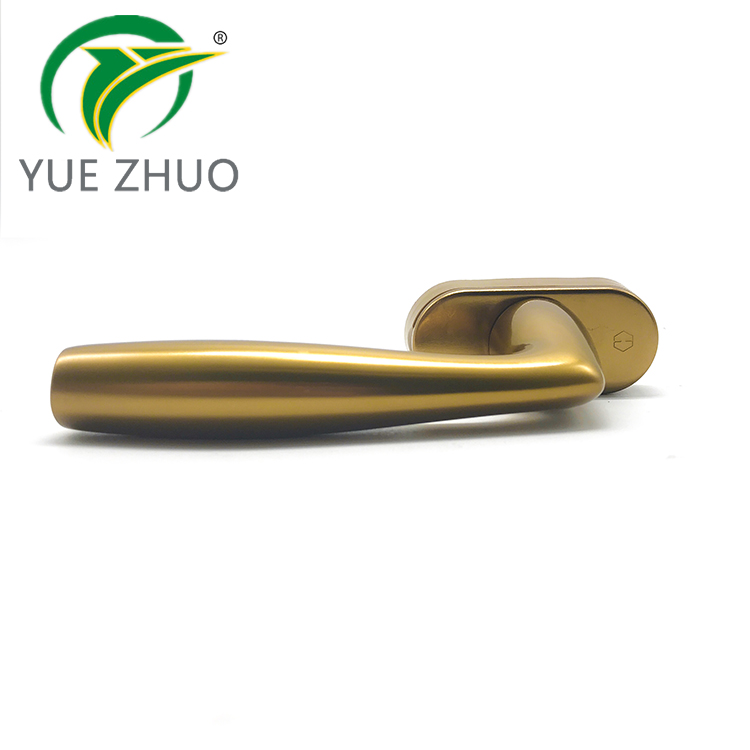 New design luxury style glod oxidation aluminum alloy window handle