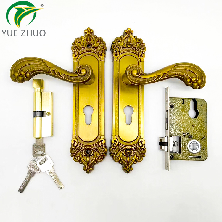 Modern aluminum alloy casement door handles wood door lock handle