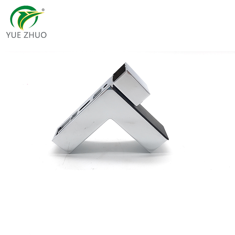 Glass hardware zinc alloy F shape glass holder adjustable glass clamp