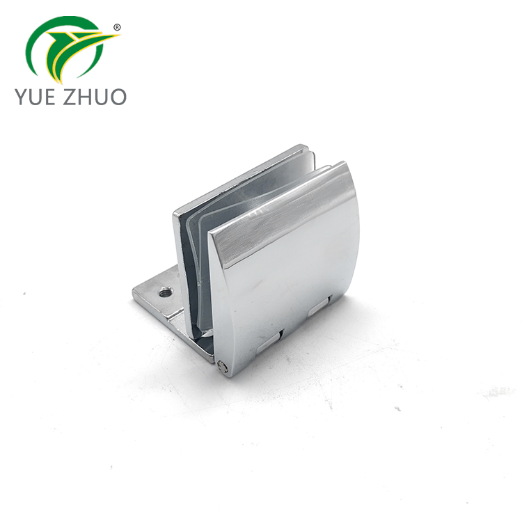 Glass door accessories 90 degree stop glass single side shower door hinge for glass door