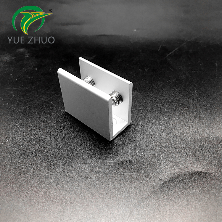 Bathroom aluminum alloy  wall mounted glass clamp glass door hinge