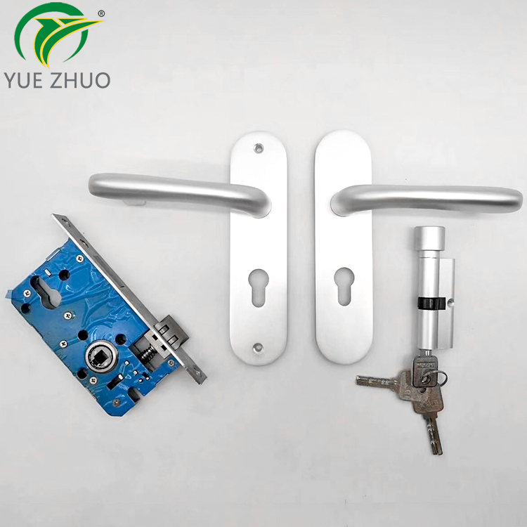 New Design Casement Door Handle Lock Set Aluminum Handle Door Lock Handle