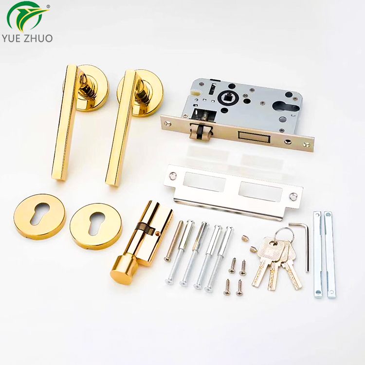 Hot sale modern main lever handle set lock stainless steel door handle